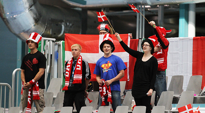 Danish supporters in the 2012 European Championship in Pajulahti.
